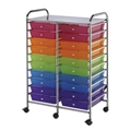 20-Drawer Multi-Colored Storage Cart