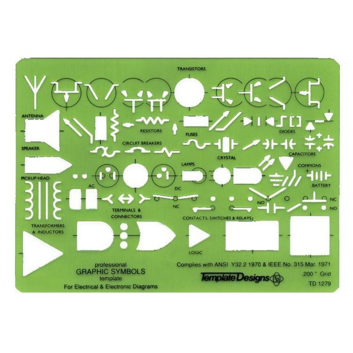 alvin electric  electronic template