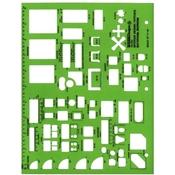 "TD7161 : Alvin¼"" Scale Interior Design/Kitchen, Bathroom, Bedroom Template"
