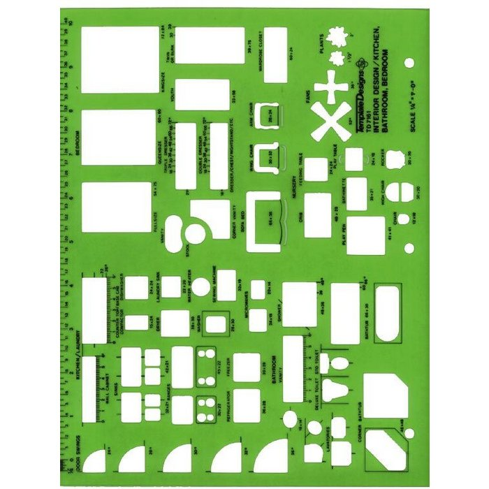 TD7161 Alvin 1 4 Scale Interior Design Kitchen Bathroom Bedroom Template