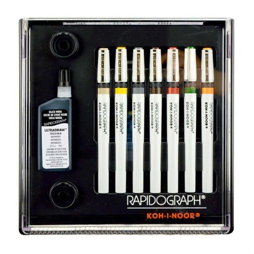 Koh I Noor Rapidograph Slim Pack 7 Pen Set