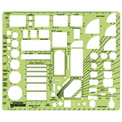 "22RB : RapidDesign½"" Scale House Plan Fixtures Template"
