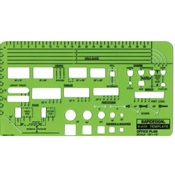 "610R : RapidDesign-1/8"" Scale Office Plan Layout Template"