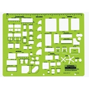 "716R : RapidDesign¼"" Scale Interior/ Kitchen, Bathroom, Bedroom Template"