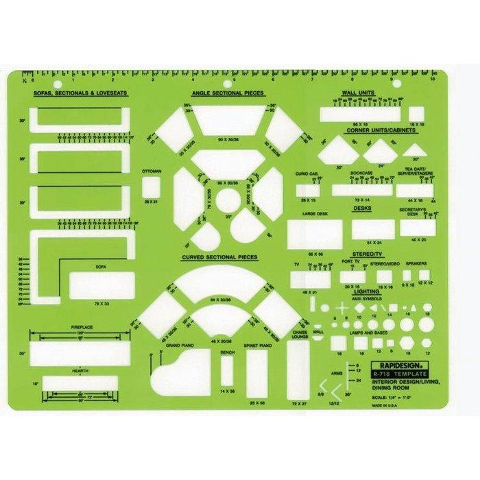 Rapiddesign Scale Interior Design Living Room Dining Room 718r,Silhouette Designer Edition Plus