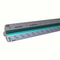 "12"" Architectural Aluminum Color-Coded Triangular Scale"