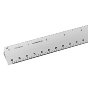 "12"" Hollow Aluminum Engineer Scale Drafting Supplies, Ruling and Measuring Tools, Triangular Scales, Triangular Engineering Scales"