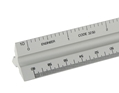 "12"" Engineering Aluminum Solid Triangular Scale"
