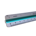 "12"" Engineering Aluminum Color-Coded Triangular Scale"