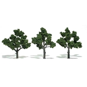 "WSTR1572 : Woodland Scenics 3-5"" Green Deciduous Trees - 14-Pack"