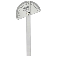 "3-3/8"" Round Head Steel Protractor with Arm"