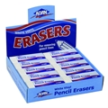 White Vinyl Erasers - Box of 20
