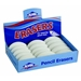 White Oval Pencil Erasers - Box of 15 - 1050AE