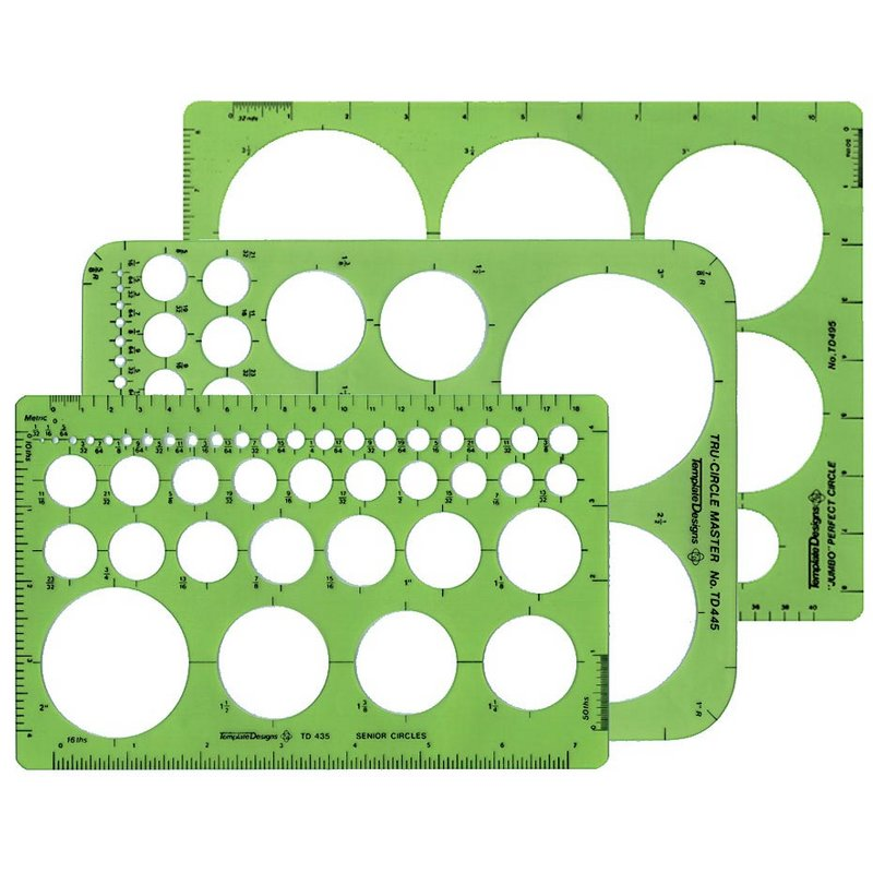 Circle Templates & Stencils | Drafting Equipment Warehouse