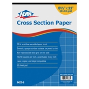 "1422-5 : Alvin 8.5"" x 11"" 10108 Crosssection Paper - 50-Sheet Pad"