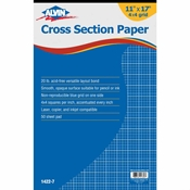 "1422-7 : Alvin 11"" x 17"" 4X4 Crosssection Paper - 50-Sheet Pad"