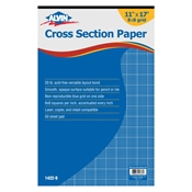 "1422-9 : Alvin 11"" x 17"" 8X8 Crosssection Paper - 50-Sheet Pad"