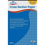"1422-10 : Alvin 11"" x 17"" 10108 Crosssection Paper - 50-Sheet Pad"