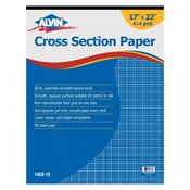"1422-12 : Alvin 17"" x 22"" 4X4 Crosssection Paper - 50-Sheet Pad"