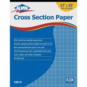 "1422-15 : Alvin 17"" x 22"" 10108 Crosssection Paper - 50-Sheet Pad"