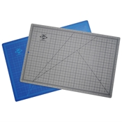 "12"" x 18"" Blue/Gray Hobby Cutting Mat"