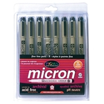 Pigma Micron Pen Set 8-Color Pack .45mm Art Supplies, Art Markers, Drawing and Sketching Markers, Pigma Micron Fine Line Design Pens