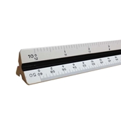 "12"" Engineering Hardwood Triangular Scale"