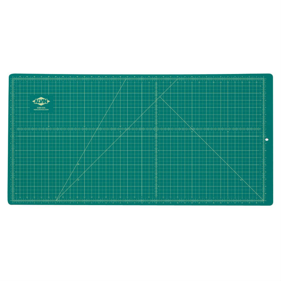Alvin 18 Quot X 36 Quot Green Black Cutting Mat Gbm1836