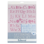 Lettering Stencil Set - Editorial