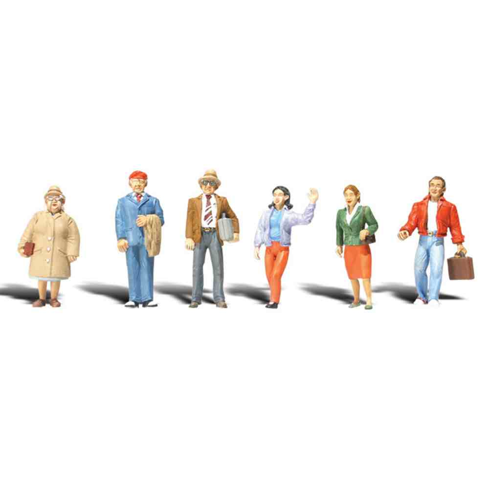 "A2042 : Woodland Scenics Standing People - 1/4"" Scale"