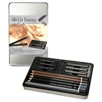 RSET-ART2501 : Royal & Langnickel Life Drawing Small Tin Art Set