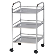 SH3CH : Blue Hills Studio 3-Shelf Storage Cart, Color: Chrome