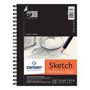 "C100510850 : Canson 5.5"" x 8.5"" Artist Series Universal Sketch Wire Bound Pad - 100 Sheets"