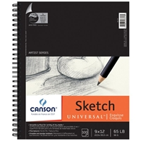 "C100510851 : Canson 9"" x 12"" Artist Series Universal Sketch Wire Bound Pad - 100 Sheets"