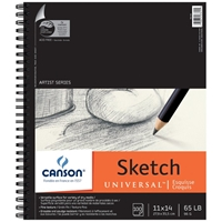 "C100510852 : Canson 11"" x 14"" Artist Series Universal Sketch Wire Bound Pad - 100 Sheets"