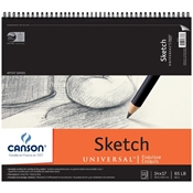 "C100510853 : Canson 14"" x 17"" Artist Series Universal Sketch Wire Bound Pad - 100 Sheets"