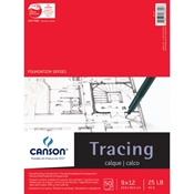 "C100510960 : Canson 9"" x 12"" Foundation Series Tracing Paper Pad"