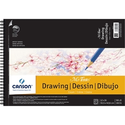 "C200006194 : Canson 12"" x 16"" Artist Series Wire-Bound Drawing Pad"