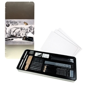 RSET-ART2408 : Royal & Langnickel Sketching Large Tin Art Set