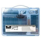RSET-ART3205 : Royal & Langnickel Essentials Clear View Large Art Case Sketching Set