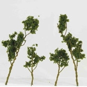"WS00309 : Wee Scapes Medium Green Foliage Tree 1.5"" x 3"" 24-Pack"