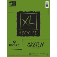 "C100510921 : Canson 9"" x 12"" XL Recycled Sketch Pad - 100 Sheets"