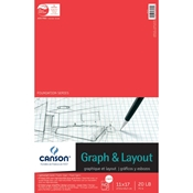 "C100510874 : Canson 11"" x 17"" Foundation Series 4X4 Graph and Layout Sheet Pad"