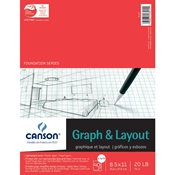 "C100510895 : Canson 8.5"" x 11"" Foundation Series 8X8 Graph and Layout Sheet Pad"