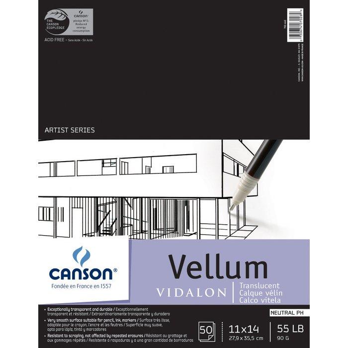 "CANSON 100510984 ARTIST SERIES C 11/"" X 14/"" VELLUM SHEET PAD"