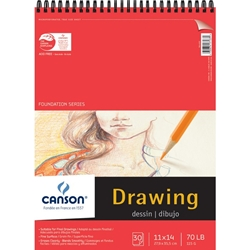 "C100510979 : Canson 11"" x 14"" Foundation Series Drawing Paper Pad"