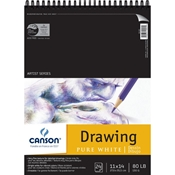 "C100510891 : Canson 11"" x 14"" Artist Series Pure White Wire Bound Drawing Pad"