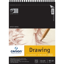 "C100510974 : Canson 11"" x 14"" Artist Series Classic Cream Drawing Paper Pad"
