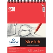 "C100511030 : Canson 11"" x 14"" Foundation Series Sketch Pad - 50 Sheets"