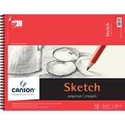 "C100511032 : Canson 14"" x 17"" Foundation Series Sketch Pad - 50 Sheets"